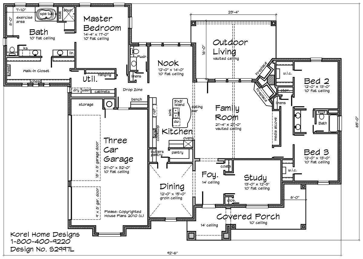 Country Home Design S2997L | Texas House Plans - Over 700 ... on luxury homes texas, small log homes texas, house plans texas, small house texas, small home builders texas,
