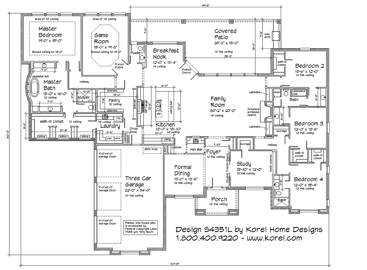 S4351L | Texas House Plans - Over 700 Proven Home Designs ... on texas design, single story brick home plans, underground shipping container building plans, texas painting, new american home plans, texas military, large open ranch plans, texas building, texas architectural styles, texas insurance, texas stone houses, texas house roof, texas house designers, texas gifts, texas home, log home plans, texas gardening, texas small houses, texas old ranch houses,